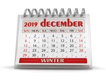 Calendário - em dezembro de 2019 ilustração do vetor