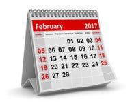Calendário - em fevereiro de 2017 ilustração royalty free