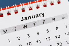 Calendário janeiro Imagem de Stock Royalty Free