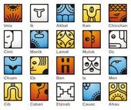 Calendário maia, 20 Seales solar ilustração stock