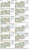 Calendário maia 2011 (europeu) Fotos de Stock Royalty Free