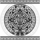 Calendário maia ilustração do vetor