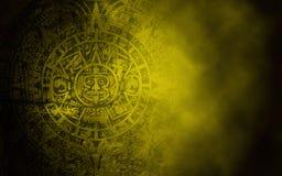 Calendário maia na textura de pedra velha Fotografia de Stock Royalty Free