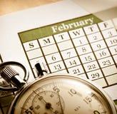 Calendário mensal imagens de stock