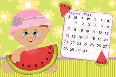 Calendário mensal do bebê para 2011 Foto de Stock