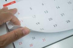 Calendário no conceito do planeamento Foto de Stock
