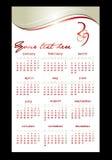Calendário para 2009 Imagem de Stock