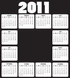 Calendário para 2011 ilustração royalty free