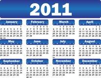 Calendário para 2011 Foto de Stock