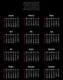 Calendário para 2015 Imagens de Stock