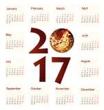 Calendário para 2017 Fotografia de Stock