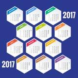 Calendário para 2017 ilustração stock