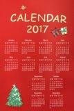 Calendário para 2017 Imagens de Stock