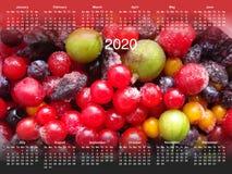 Calendário para 2020 ilustração royalty free