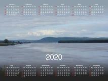 Calendário para 2020 foto de stock royalty free