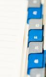 Calendário para a inclusão na reunião Imagens de Stock