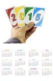Calendário 2015 para os E Fotos de Stock
