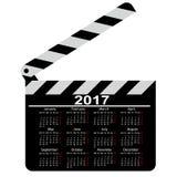 Calendário para 2017, placa de válvula do filme Ilustração do vetor ilustração stock