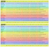 Calendário pelo ano Foto de Stock Royalty Free