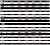 Calendário pelo ano Foto de Stock