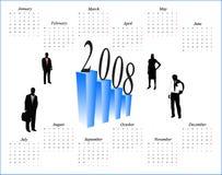 Calendário por 2008 anos Imagens de Stock Royalty Free