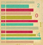 Calendário por 2014 anos Foto de Stock