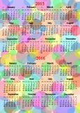 Calendário por 2014 - 2017 anos no fundo colorido Fotos de Stock