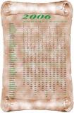 Calendário por o dia ilustração royalty free
