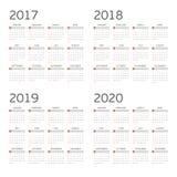 Calendário por quatro anos Foto de Stock Royalty Free