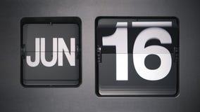 Calendário que mostra junho video estoque