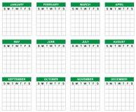Calendário vazio ilustração royalty free
