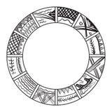 Calendário velho ilustração do vetor