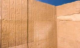 Calendário velho cinzelado nos hieróglifos nas paredes do templo de Kom Ombo, Kom Ombo, Egito Fotografia de Stock Royalty Free