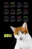 Calendário vertical da cor por 2011 anos Imagem de Stock Royalty Free