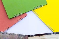 Calendários coloridos da espinha do quadro Foto de Stock Royalty Free