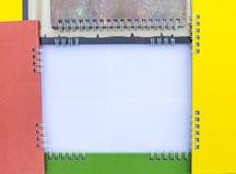 Calendários coloridos da espinha do quadro Imagem de Stock Royalty Free