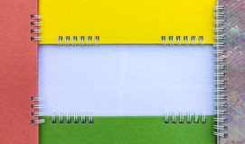Calendários coloridos da espinha do quadro Imagem de Stock