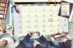 Calenda议程天最后期限事件会议概念 免版税库存图片