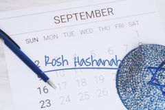 Calenda Concepto de Rosh Hashana Fotografía de archivo