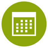 calendar икона Стоковое фото RF