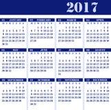 Calendar на год 2017 стоковая фотография