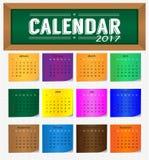 Calendar на год 2017 иллюстрация штока