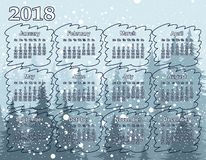 Calendar на год 2018 Стоковая Фотография