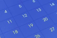 Calendar страница Стоковая Фотография RF