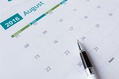 Calendar страница Стоковые Изображения