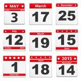 Calendar страницы Стоковое фото RF