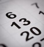 Calendar тринадцатый номер Стоковое Изображение