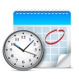 calendar часы Стоковые Изображения RF
