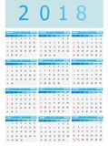 Calendar-2018 Royalty Illustrazione gratis