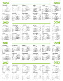 Calendar. New Year 2009 2010 2011 2012 royalty free illustration